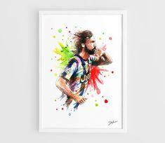 Andrea Pirlo (Juventus FC) - A3 Art Prints of the Original Watercolors