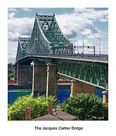 Reminds me of gramere's - Jacques Cartier Bridge Montreal Ville, Montreal Quebec, Quebec City, Jacques Cartier, Canadian History, O Canada, Newfoundland And Labrador, Travel Channel, Toronto