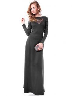 e01db20d1e5 Черное трикотажное платье с кружевной отделкой