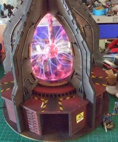 Spikey Bits Warhammer 40k, Fantasy, Conversions and Painted Miniatures: Vortex Teleporta Complex - Conversion Corner