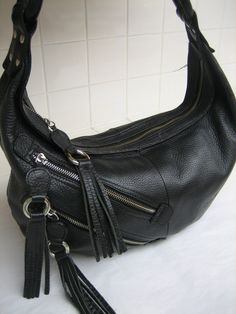 $70 | Vtg SALVATORE FERRAGAMO Black Leather Hobo Motorcycle style Shoulder Purse Bag ITALY | page: https://www.etsy.com/listing/173495607/vtg-salvatore-ferragamo-black-leather?ref=sr_gallery_11&ga_search_query=leather+hobo&ga_order=price_asc&ga_page=51&ga_search_type=all&ga_view_type=gallery