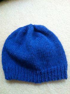 Blue woolen hat