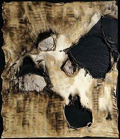 'Combustione Plastica', 1958,   by Alberto Burri