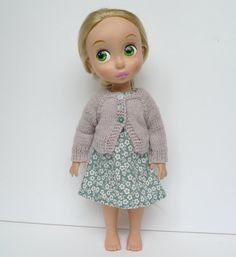light green dress and cardigan for disney animator by Hillyrags