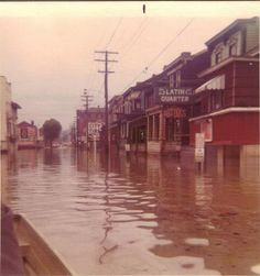 Wheeling WV 1972 flood this is in center Wheeling I have lived here 64 years and been through many Ohio River Floods.....I LIVED IN SOUTH WHEELING IN THIS PIC NOW I LIVE ON THE ISLAND