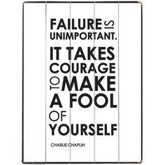 Failure Is Unimportant.