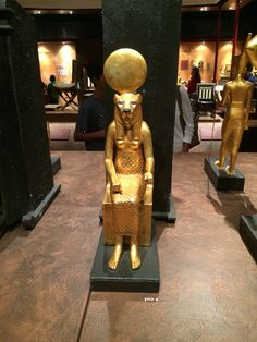 Sekhmet golden statue San Diego Natural History Museum, King Tut's tomb