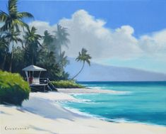 Sunset Beach Oil Painting by Wade Koniakowsky