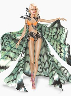 aa57e6acb577 Jane Kennedy, Catch Gigi Hadid fluttering down the runway in the 2015 Victoria's  Secret Fashion Show, in this look from the Exotic Butterflies theme.
