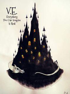 The Castle with a Thousand Eyes by Eszter Anna Vörös Sci Fi, Art Gallery, Castle, Anna, Dragon, Batman, Silhouette, Fantasy, Superhero