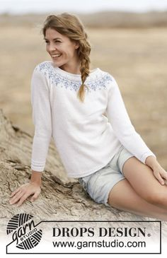 A new favorite? This pattern is just online: #DROPSDesign jumper with raglan and round yoke #knitting #ss2015