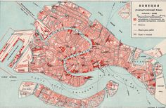 The Venice map (1930's, USSR) by aircoooled karma, via Flickr
