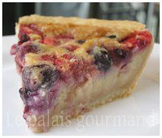 Le palais gourmand: Tarte au sucre à la crème, bleuets et framboises de Laurent Godbout