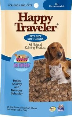 DOG HEALTH - BEHAVIOR AIDS - HAPPY TRAVELER SOFT CHEWS - USA - 75 CT - GULF COAST NUTRITIONALS, INC. - UPC: 632634210021 - DEPT: DOG PRODUCTS