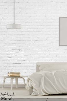 White Brick Wall Mural, as seen on Cityline, creates a soft, airy feeling in rooms. The realistic white brick wallpaper adds a subtle texture to bedroom, living room and office walls. It's easy to hang, removable and eco-friendly! White Brick Wallpaper, White Brick Walls, I Wallpaper, Prepasted Wallpaper, Subtle Textures, Office Walls, Off The Wall, It's Easy, Wall Murals