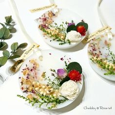 アロマ・ワックスサシェ white3【lavender&rose】