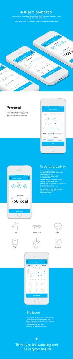 Unique App Design, Right Diabetes #App #Design (http://www.pinterest.com/aldenchong/)