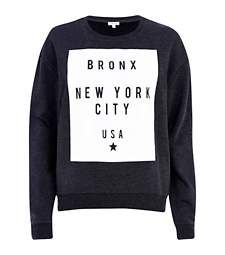 Dark grey Bronx New York print sweatshirt £25.00