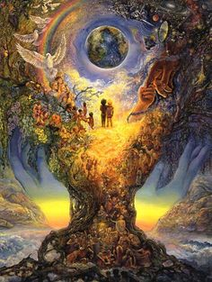 """Josephine Wall creates some of the most beautiful surreal fantasy art around. This is """"Millenium Tree (Tree of Peace)"""" which is one of my personal favorites."""