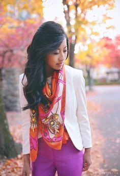 Oversized print scarf 3 ways - bib, shawl, and double loop - Extra Petite