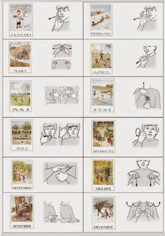 Månaderna Sign Language, Preschool, Education, Signs, Parents, Communication, Alternative, Pictures, Culture