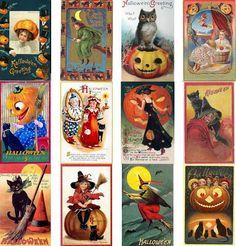 Victorian Halloween Greeting Cards | Victorian Halloween PostCard