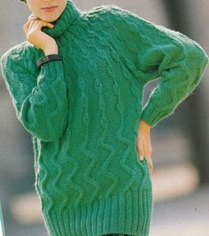 Vintage Knitting Pattern Instructions to Make a Ladies Aran Jumper/Sweater