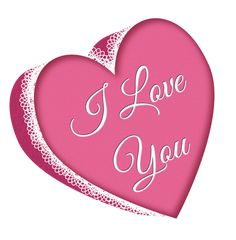 Valentines Day Pink Heart with Lace PNG Clipart Picture