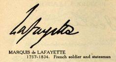 Marquis de LaFayette Signature