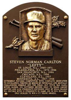 Steve Carlton, LHP, Philadelphia Phillies, Baseball Hall of Fame