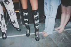 Illustrated leather boots at Claire Barrow SS15 LFW. More images here: http://www.dazeddigital.com/fashion/article/21684/1/claire-barrow-ss15