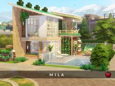 Sims 4 House Plans, Sims 4 House Building, Cute House, Tiny House, Sims 4 House Design, Casas The Sims 4, Sims 4 Build, Outdoor Retreat, House Layouts