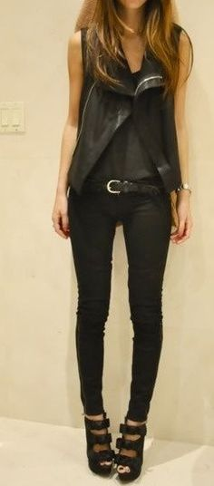 All black everything...because every now and hen you have to go out in this fantastic look