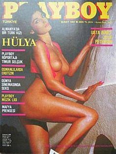 Playboy (Turkey) February 1987 with Hülya Avşar on the cover of the magazine