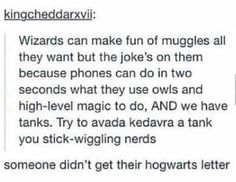 i'm not even in the harry potter fandom but this is funny