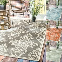 This machine-made 100-percent polypropylene rug features a Floral style with a modern color palette. Constructed in a durable yet soft polypropylene construction this beautiful rug will make a wonderful addition to any room.