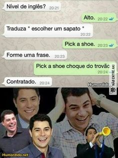 AUSHUASHUSUAUSHAHHSHAUSAHSUHASUSUHSUAUSUASAHS...tô bem Wtf Funny, Funny Facts, Funny Cute, Memes Humor, Jokes, Funny Images, Funny Photos, Ninja, Learn Portuguese