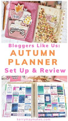 My Autumn planner set up and review, showing you what planners I am currently using, what I have ditched and what I am loving in the 'Planner World'. #autumnplanner #plannersetup #plannersetup Bullet Journal Lists, Bullet Journal Layout, Bullet Journal Inspiration, Bullet Journals, Art Journals, Journal Ideas, Planner Tips, Happy Planner, Nerd