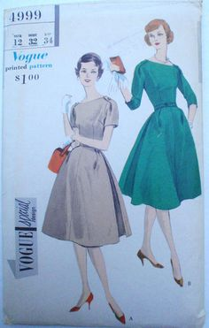Vintage 50's Woman's Sewing Pattern  Vogue Special by Shelleyville, $20.00