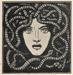 Medusa, by Franz von Stuck, from Jugend Magazine