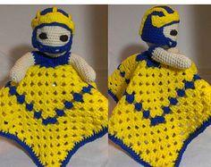 Ohio State Buckeye Brutus INSPIRED Crochet Lovey by AweStitch