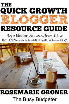 Quick growth blogger resource guide.