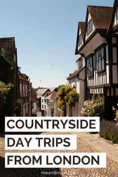 Fun day trips to the countryside from London. #travel #daytrip #british #walking #tour Arlington Row, Cotswold Villages, British Travel, Day Trips From London, Cathedral City, Bus Travel, Relaxing Day, New Forest, East Sussex