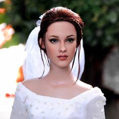 Noel Cruz Creations - Barbie as Twilight wedding Bella air-brushed to perfection.