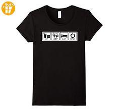 Mushroom Hunting T-shirt - Eat, hunt, sleep, repeat Damen, Größe L Schwarz (*Partner-Link)