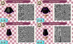 Bat wing shirt #Halloween #acnl #animalcrossing #newleaf #Nintendo #3DS