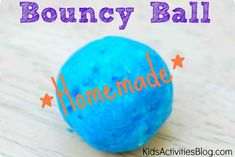 DIY Tutorial for kids make a bouncy ball.  I bet these would make great gifts!