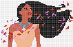 Pocahontas x-stitch / hama bead pattern by Santian69 on deviantART