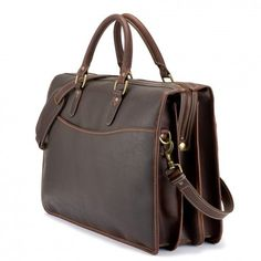 Tusting Grafton Laptop Briefcase in Sundance Floodlight Leather