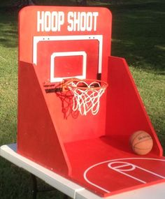 Basketball Hoop Shoot Carnival Game for Birthday, Church, VBS or School Party Diy Carnival Games, Carnival Booths, Carnival Games For Kids, Spring Carnival, Diy Games, Party Games, Spy Party, Carnival Ideas, Church Carnival Games